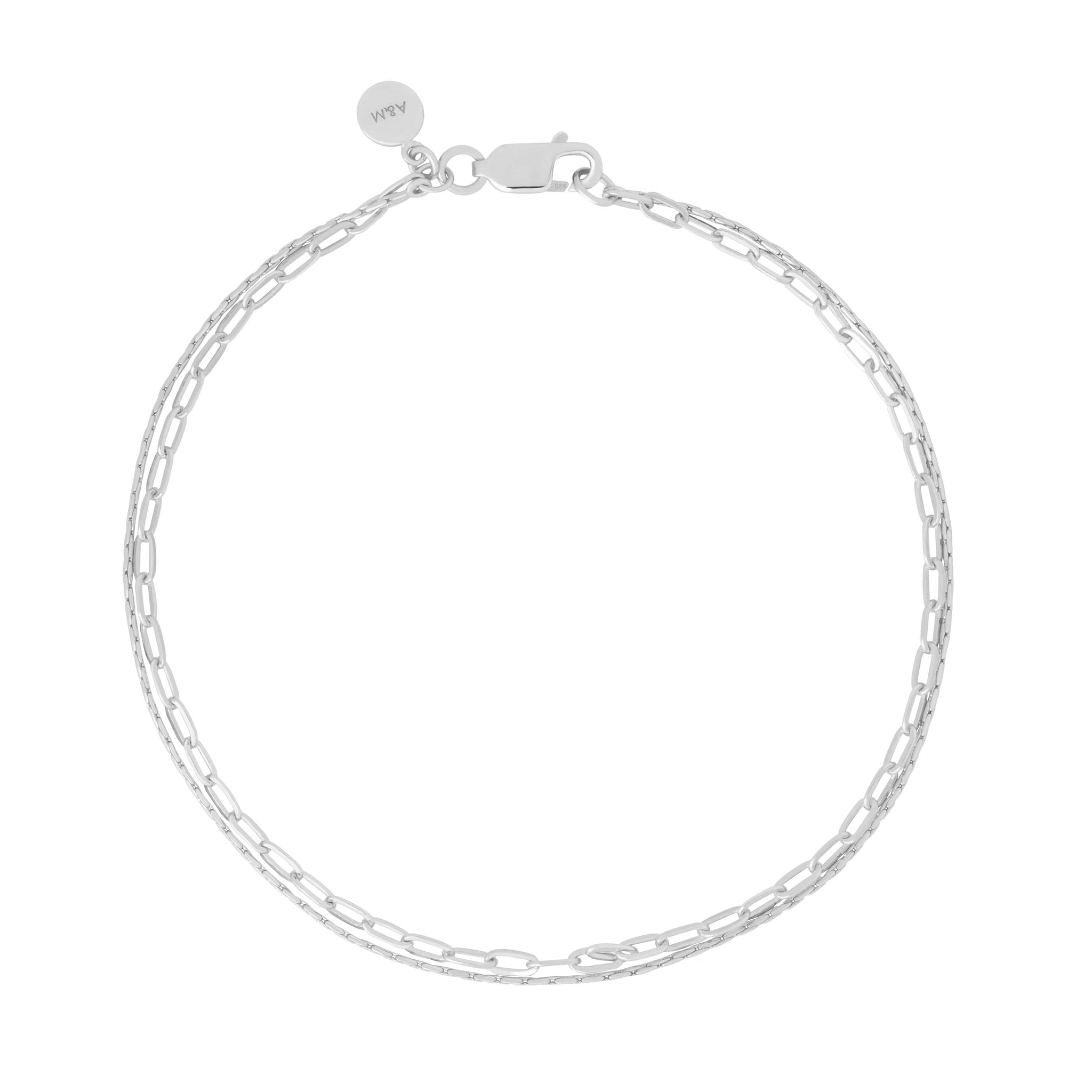 Double Chain Bracelet in Silver