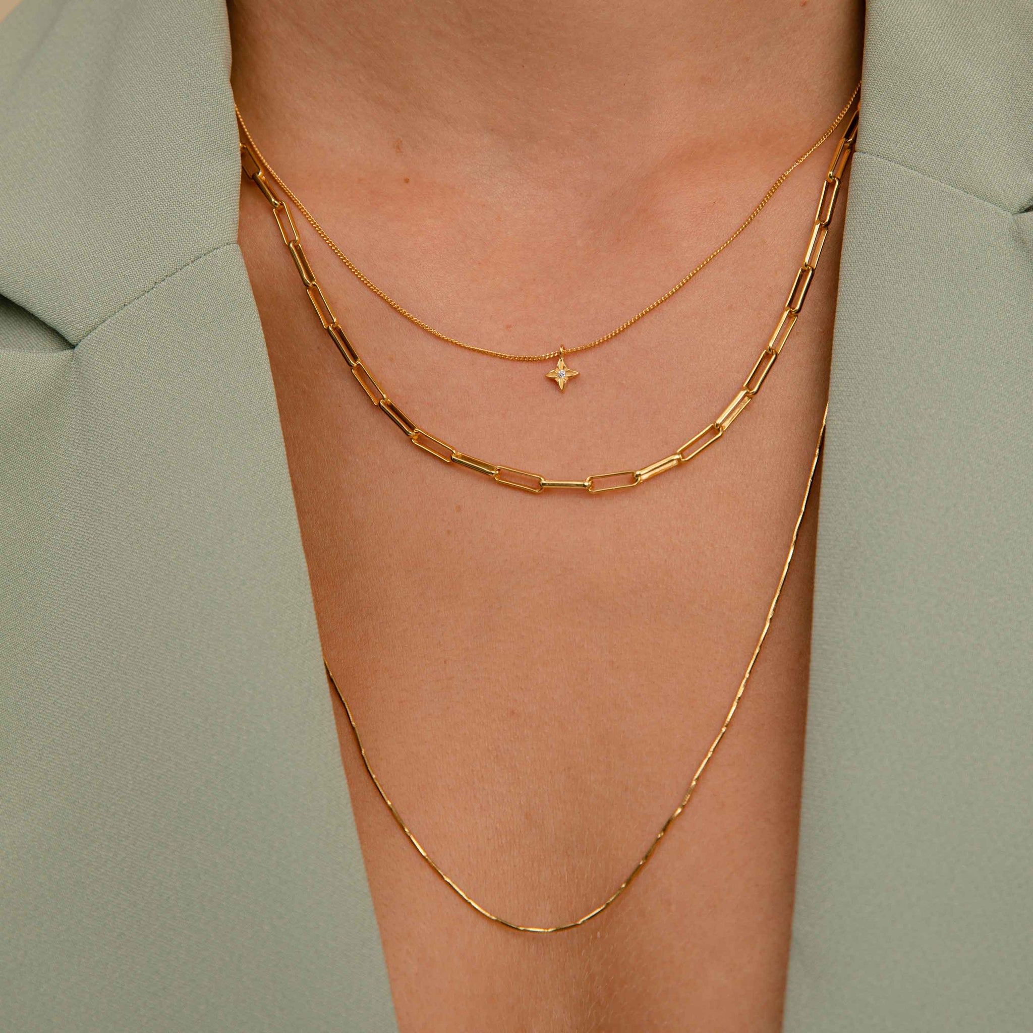 Fine Bar Chain 55cm in Gold
