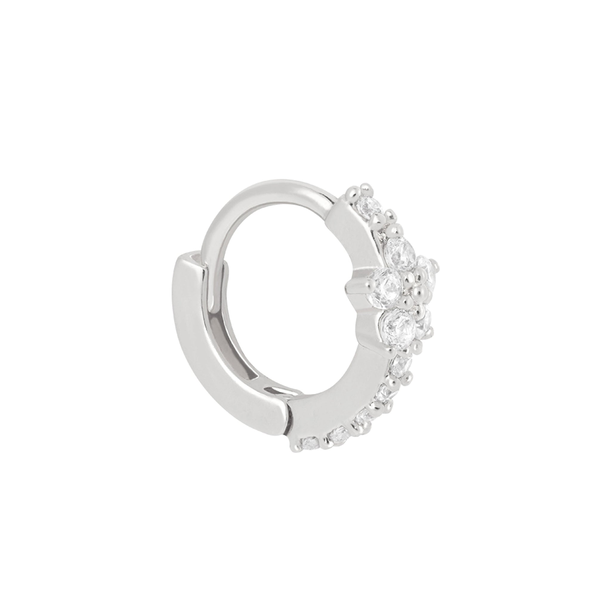 Gem Flower Clicker in Silver