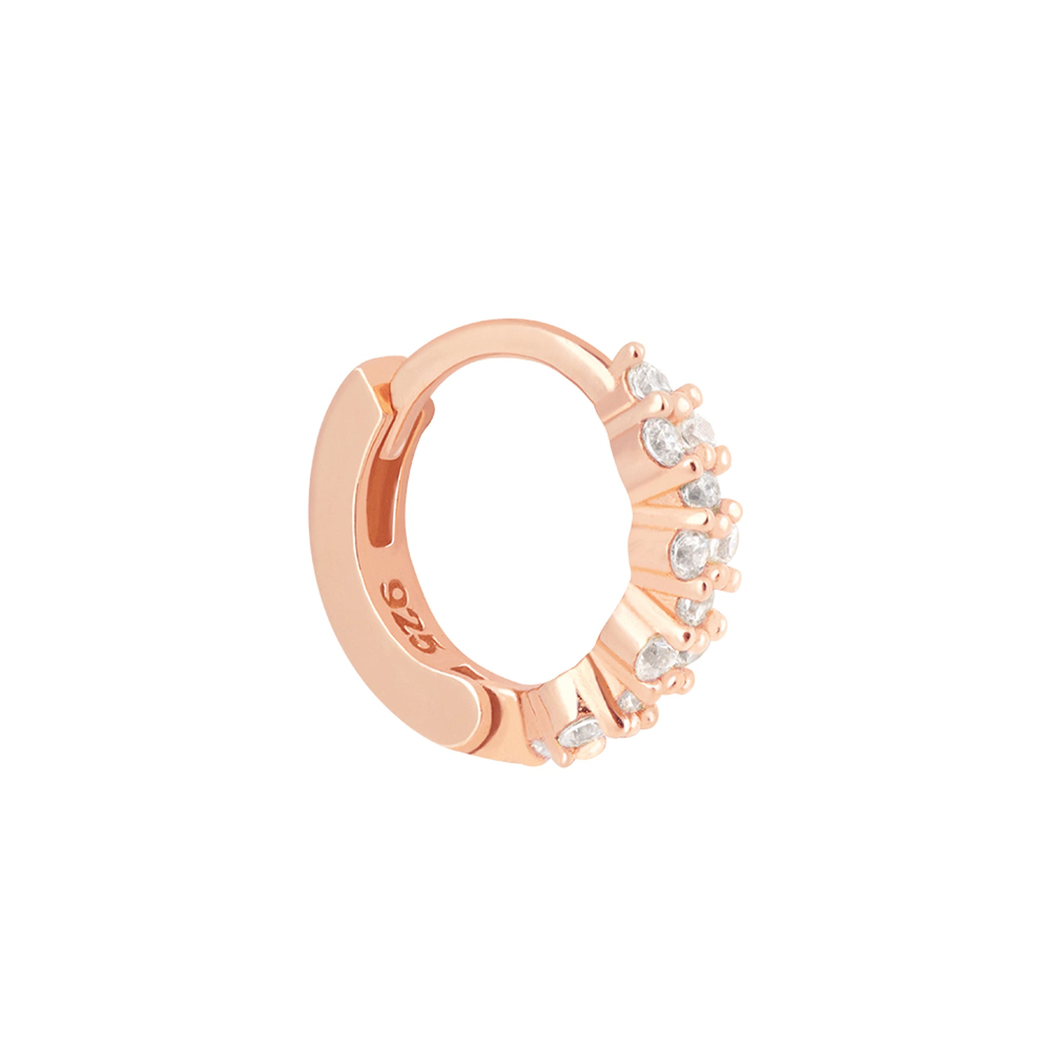 Dainty Crystal Clicker in Rose Gold