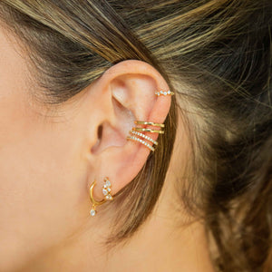 Gem Clicker in Gold worn in helix piercing