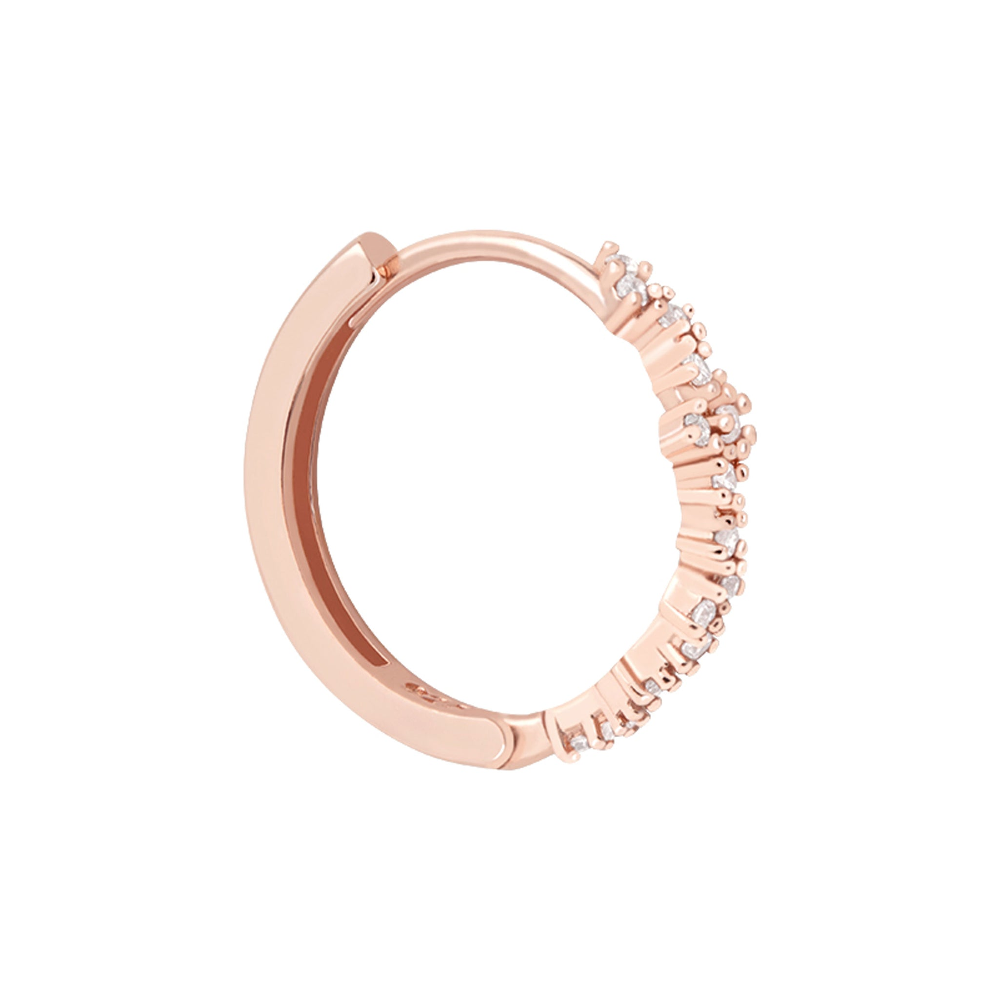 Crystal Conch Hoop in Rose Gold