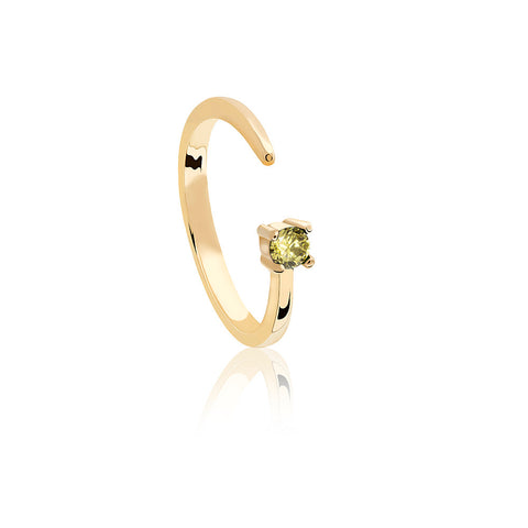 gold leo zodiac ring