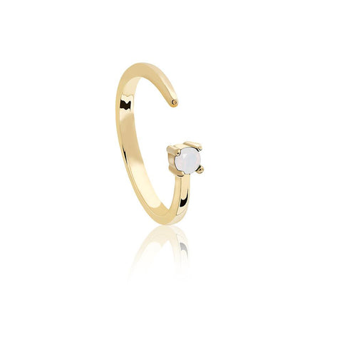 Libra Zodiac Ring in Gold
