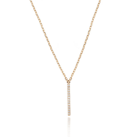 Hold on small bar necklace in gold