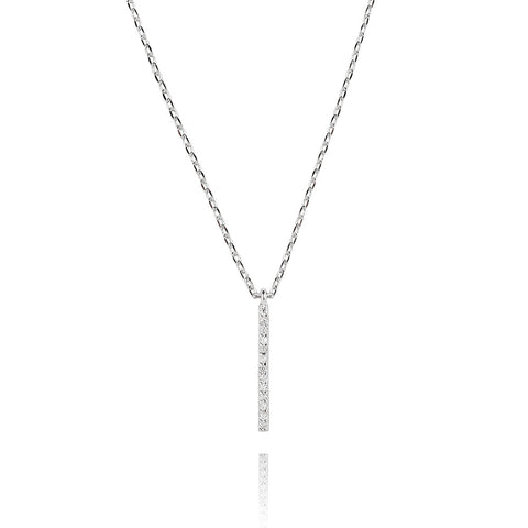 Hold on small bar necklace in silver