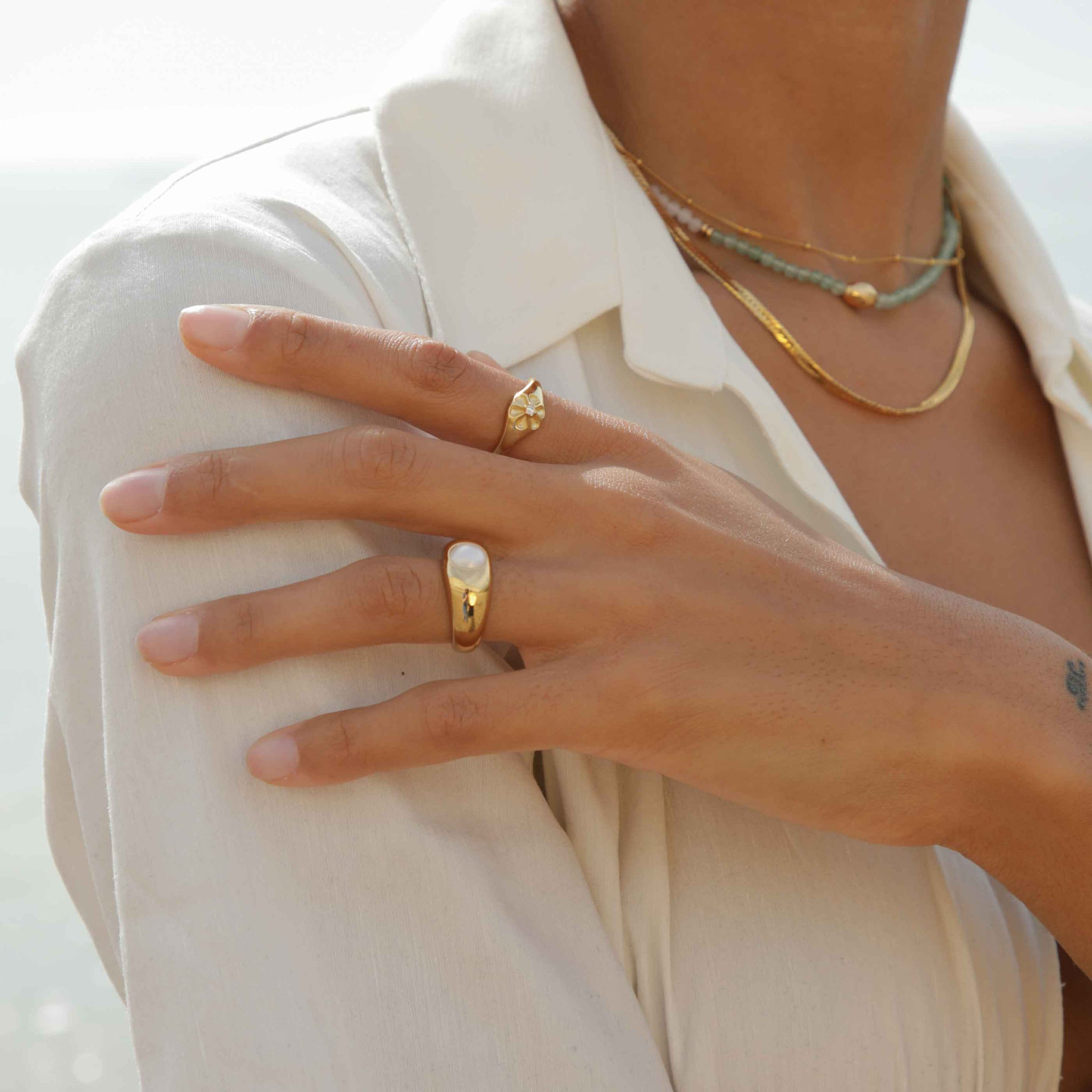 Illume Pearl Dome Ring in Gold