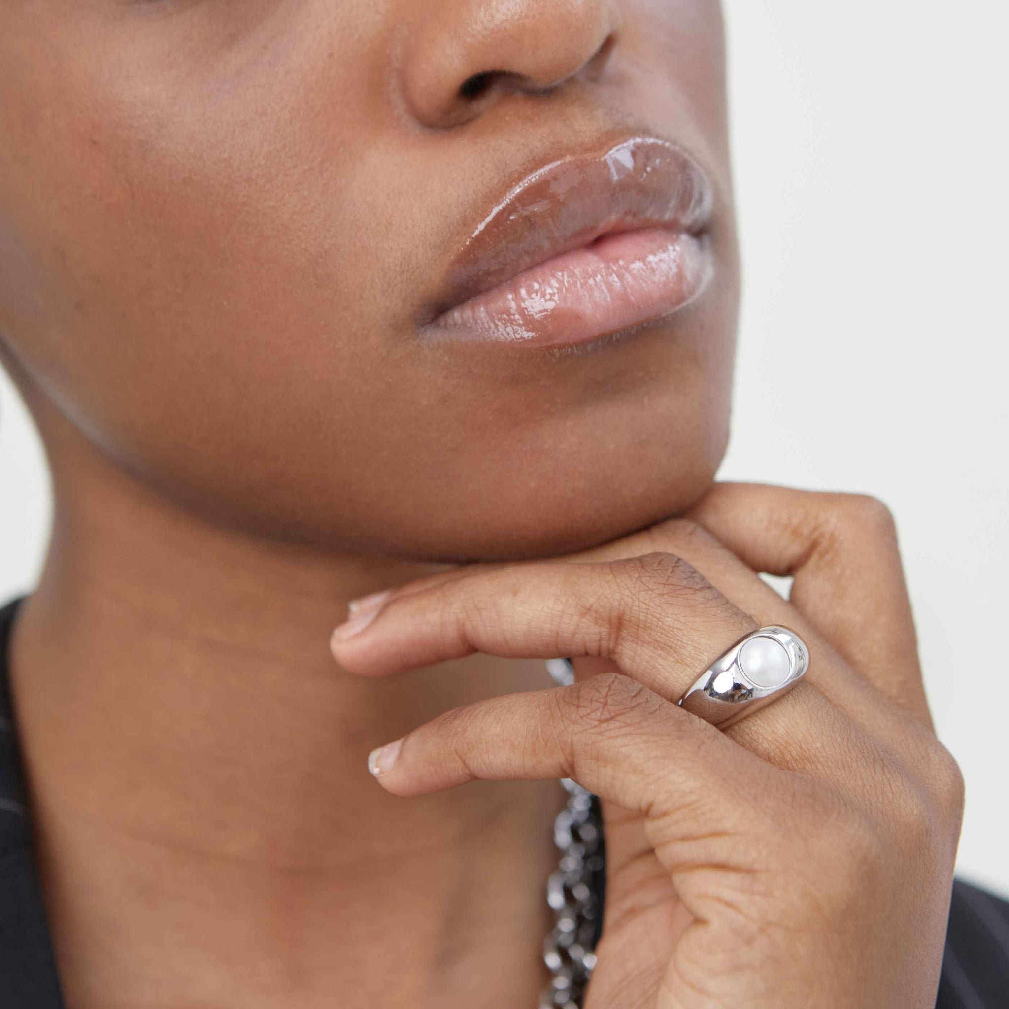 Illume Pearl Dome Ring in Silver