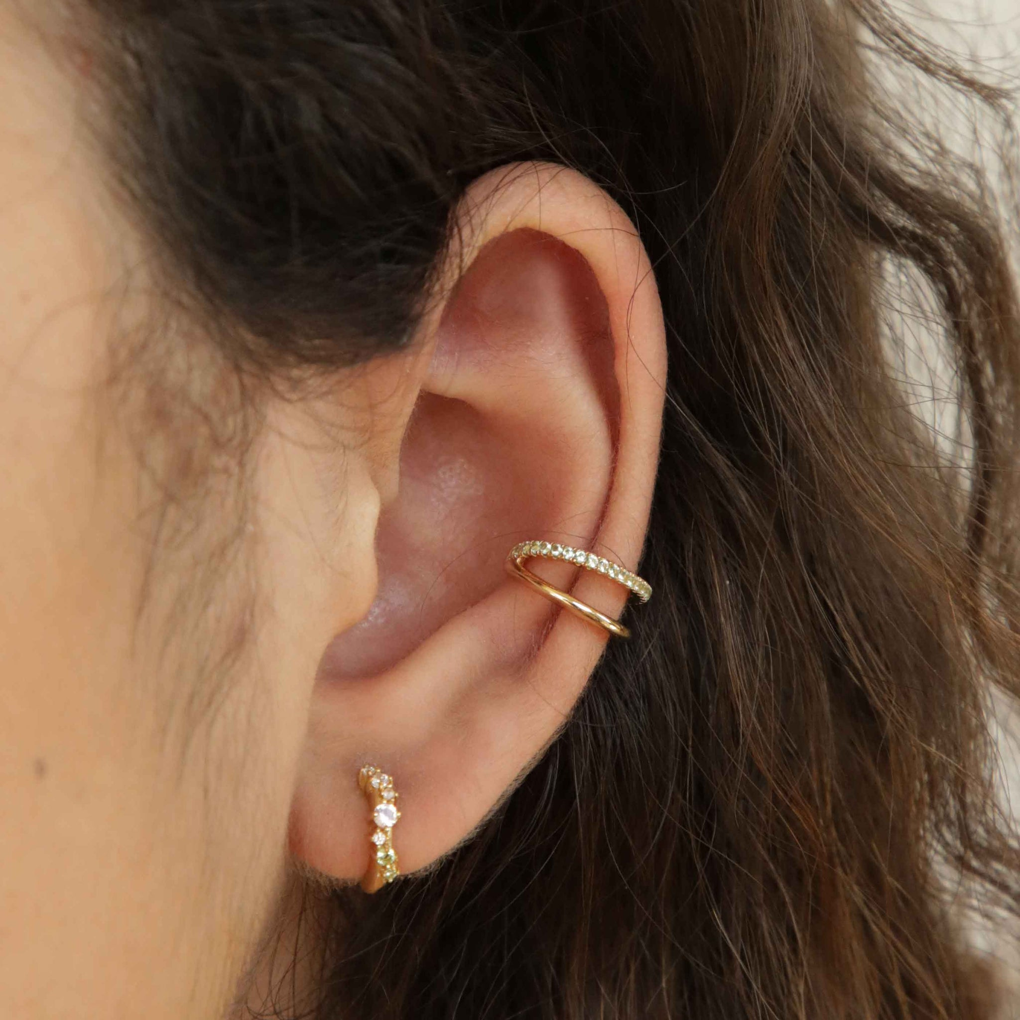Illusion Sage Ear Cuff in Gold
