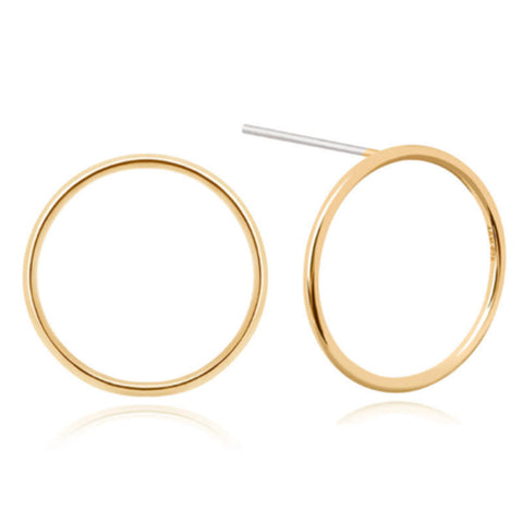 Gold large halo earrings