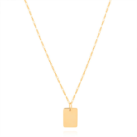 Gold large ID necklace