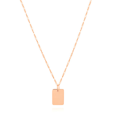 Rose gold large ID necklace