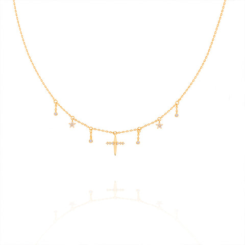 Mystic Dreams Charm Choker in Gold