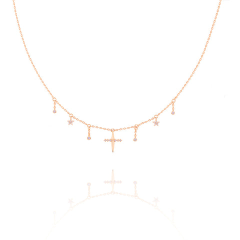 Mystic Dreams Charm Choker in Rose Gold