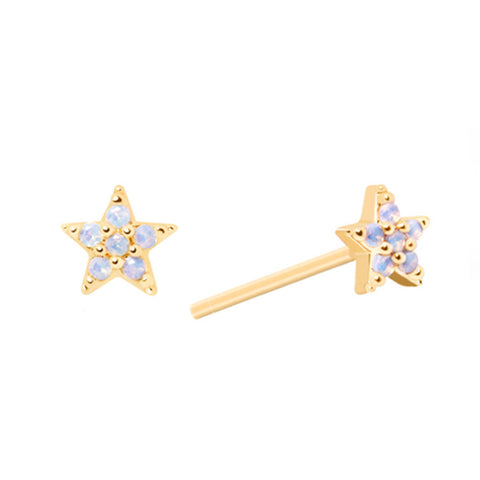 tar Stud Earrings in Gold