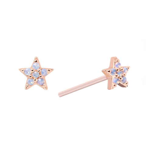 Star Stud Earrings in Rose Gold