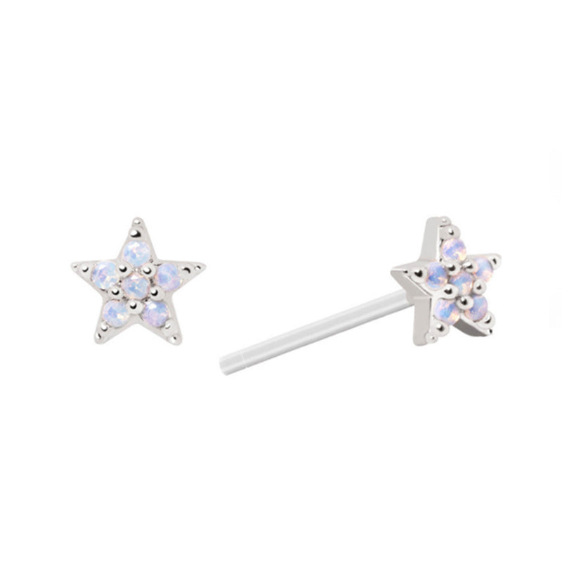 Mystic Star Stud Earrings in Silver – Astrid & Miyu