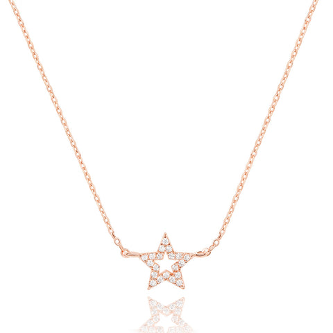 Star Necklace in Rose Gold