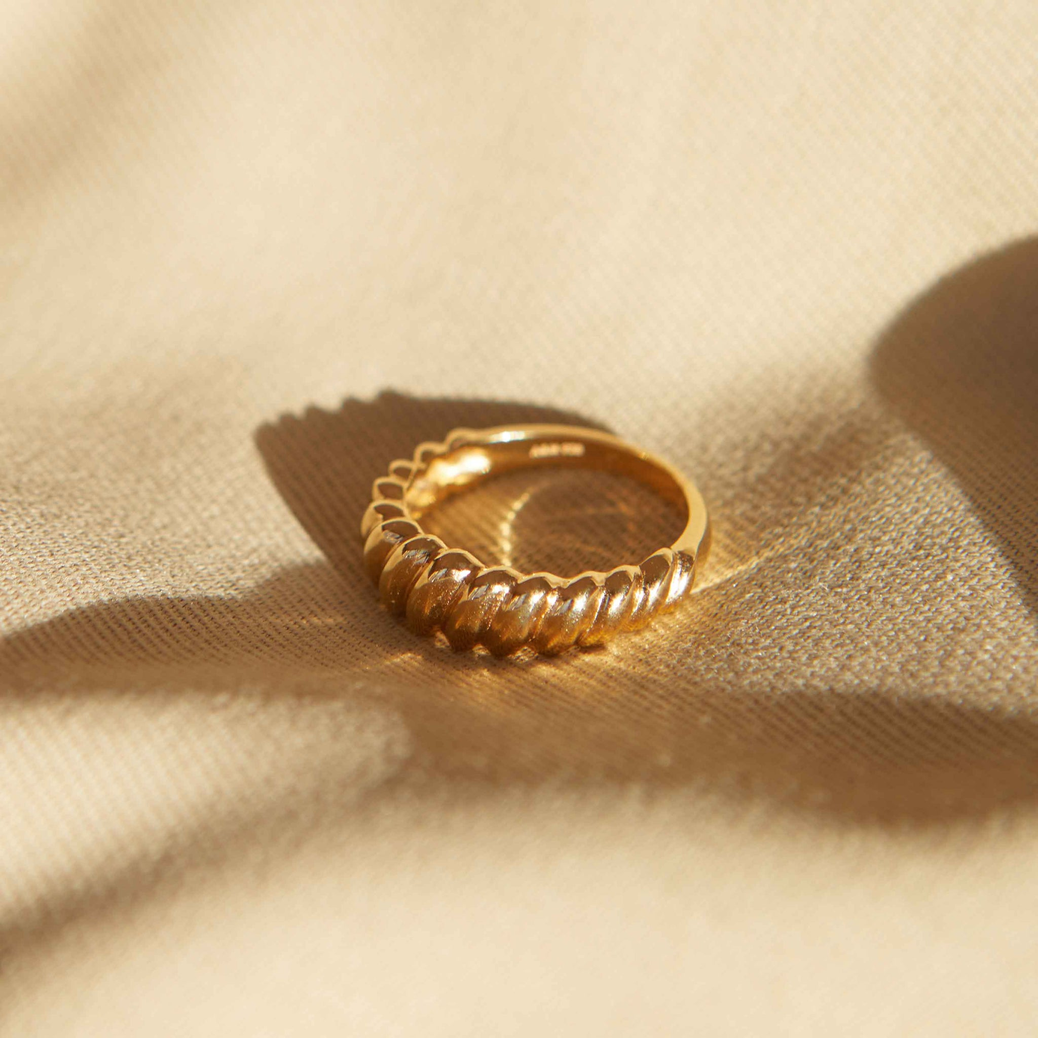 Rope Dome Ring in Gold