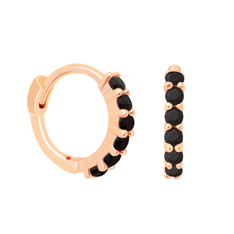 black stone huggies rose gold