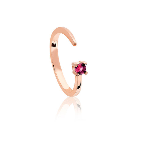 rose gold cancer ring