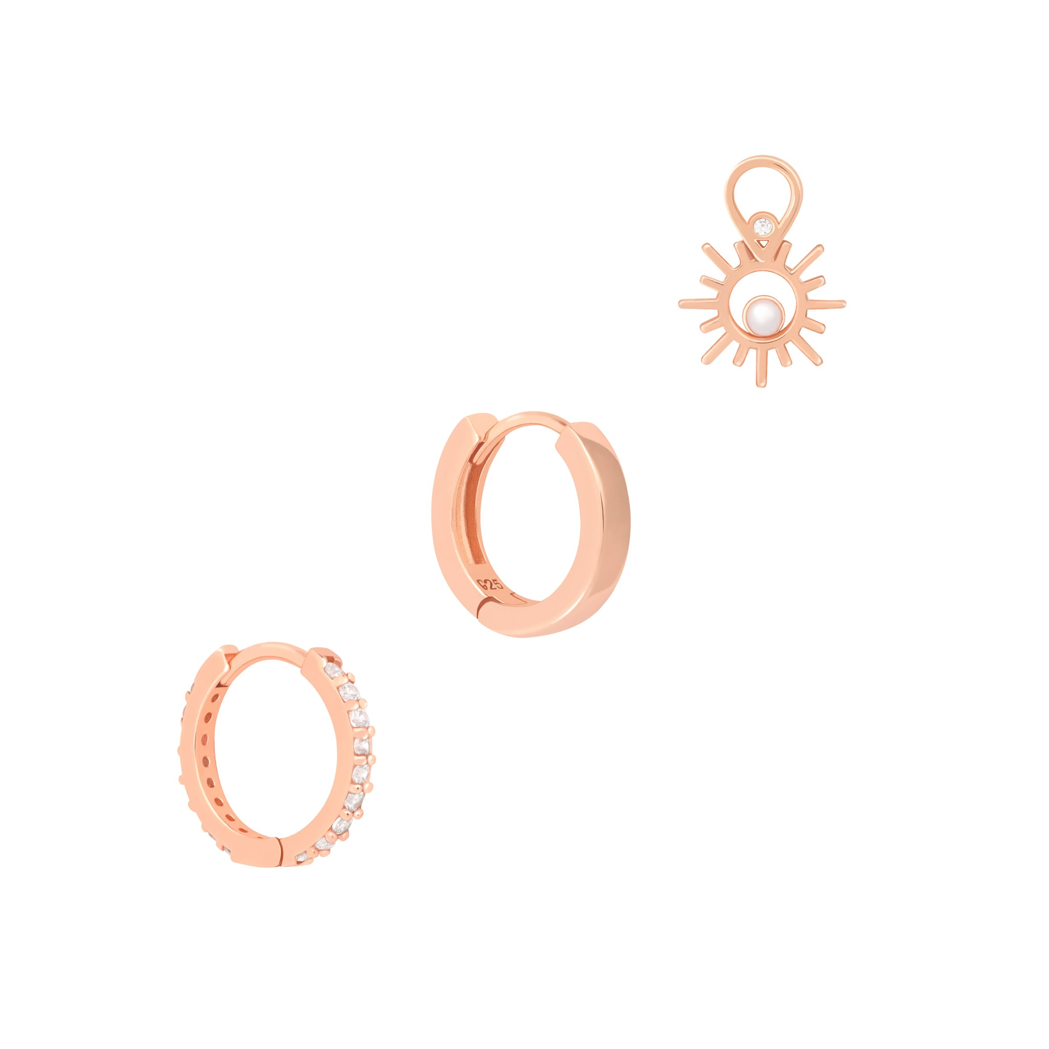 The Cultured Stack in Rose Gold