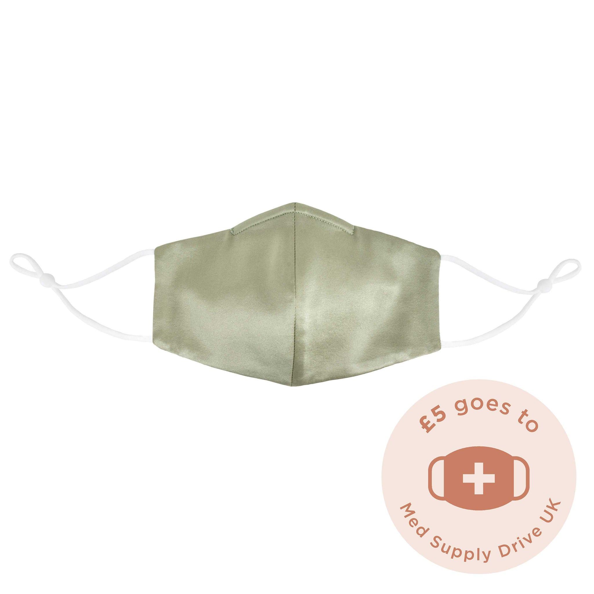 Sage Green Silk Face Mask
