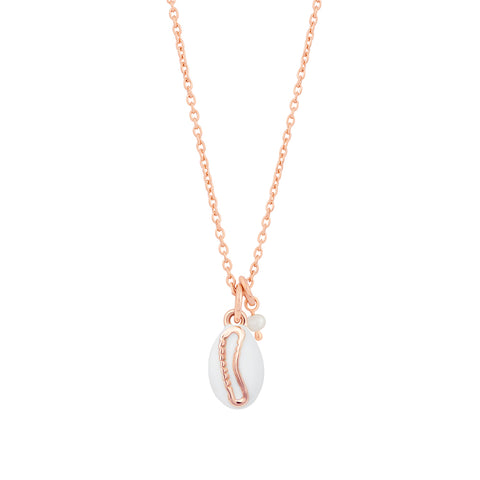 Shell Pendant Necklace in Rose Gold