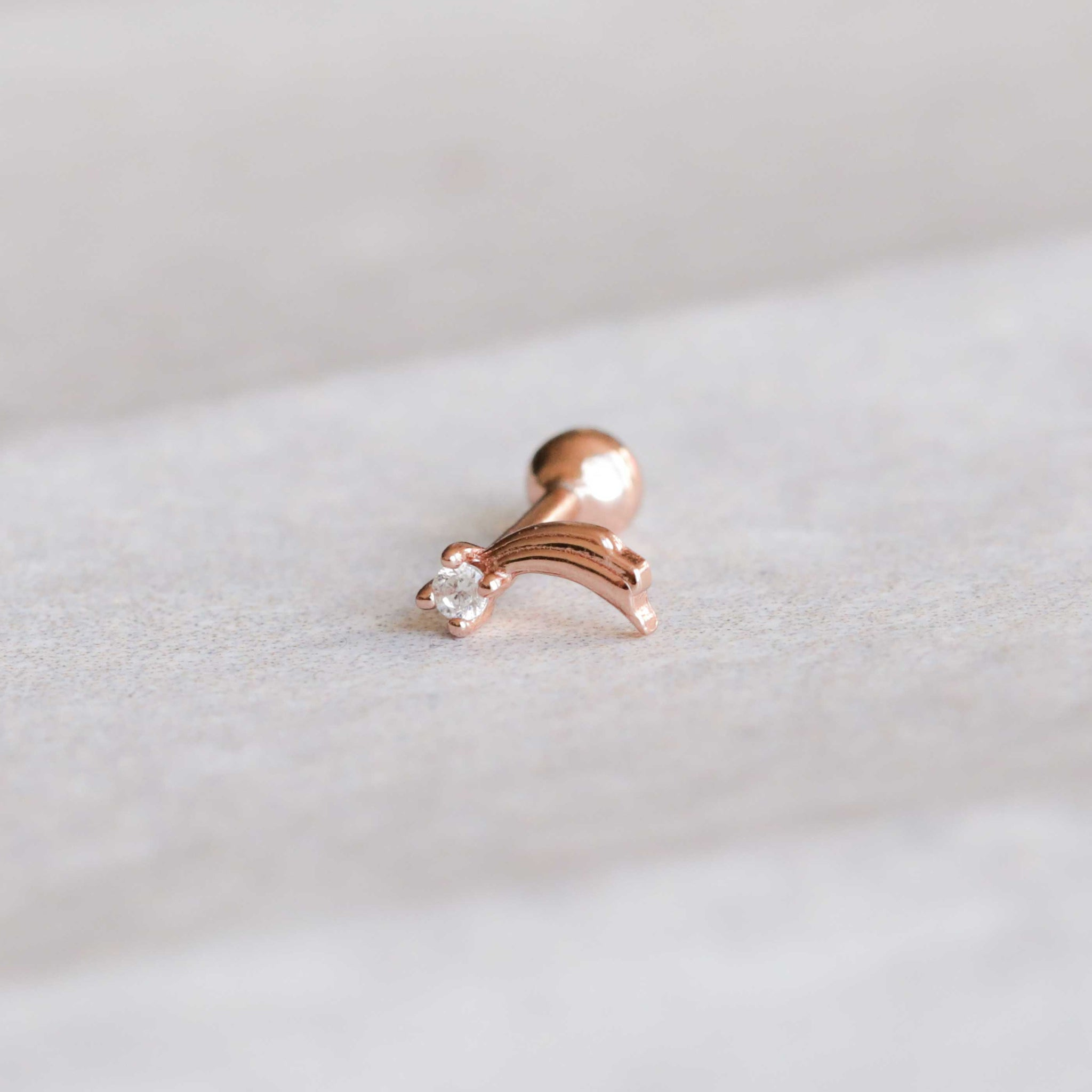 Shooting Star Barbell in Rose Gold