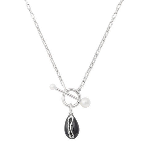 Shell Toggle Necklace in Silver