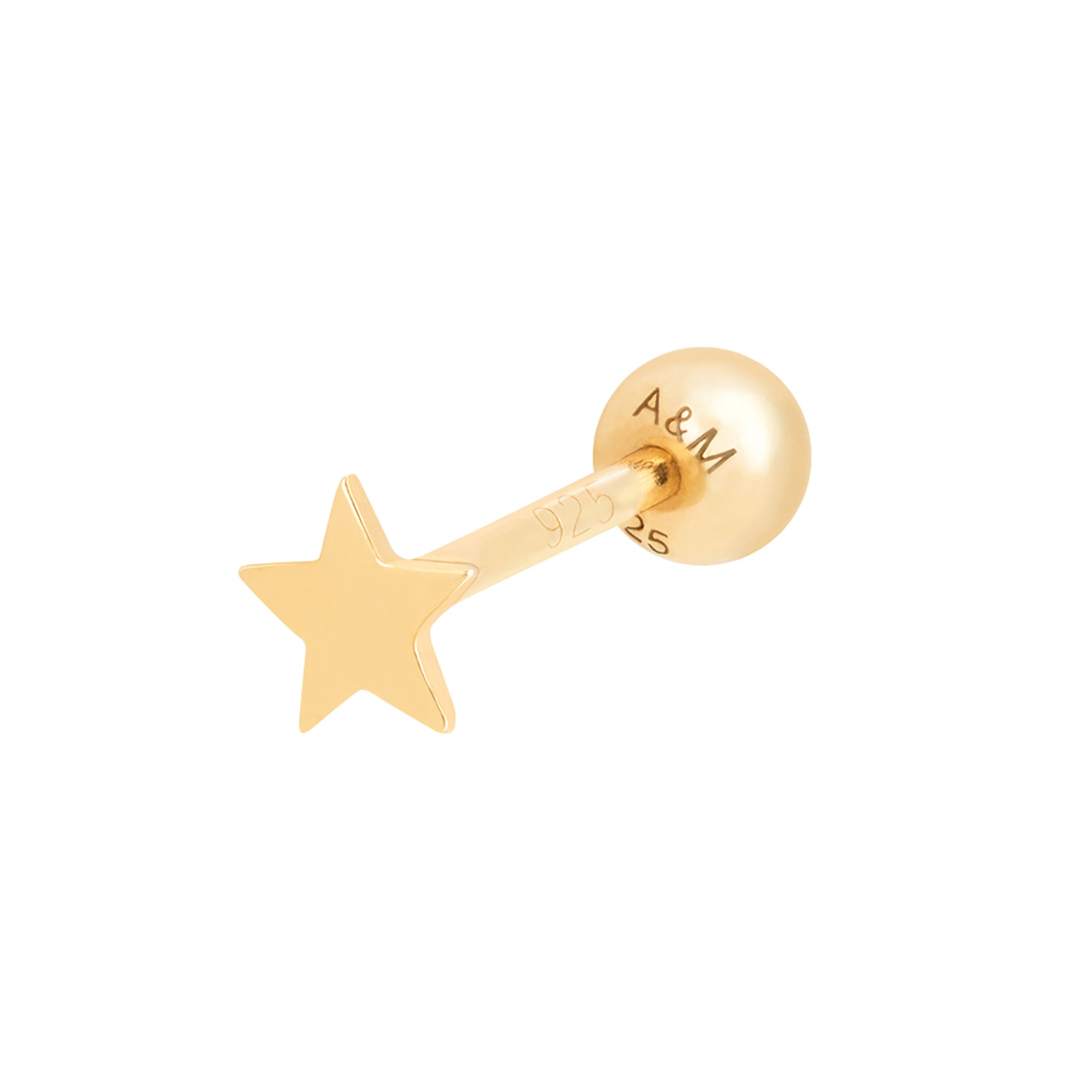 Simple Star Barbell in Gold