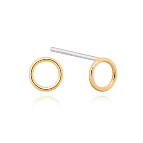 Gold small halo earrings