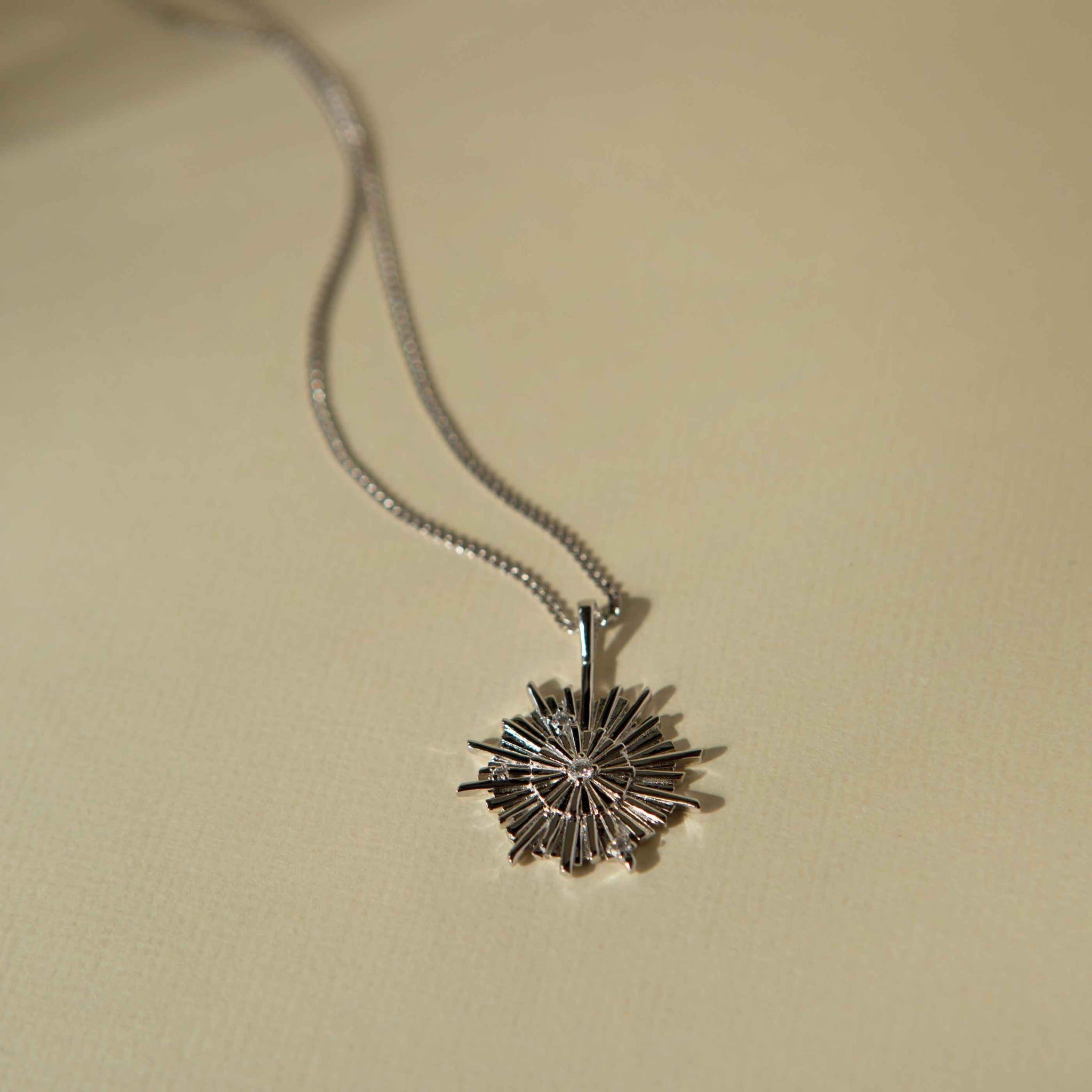 Supernova Pendant Necklace in Silver
