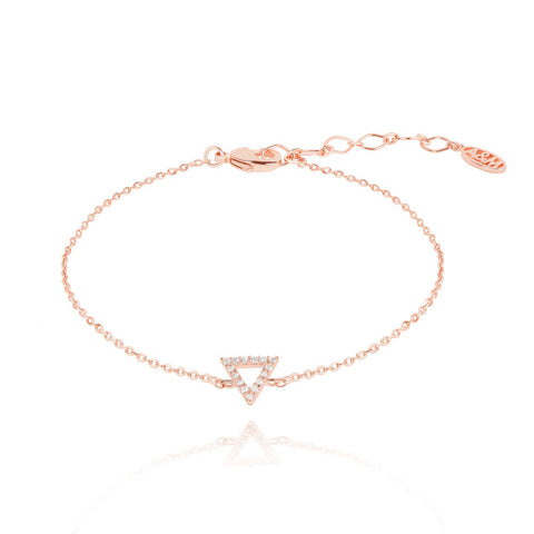 rose gold triangle bracelet