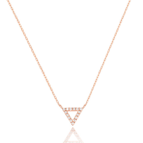 Triangle Necklace in Rose Gold