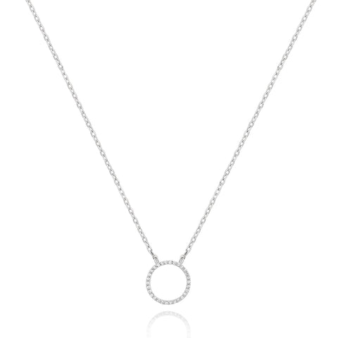 circle necklace silver
