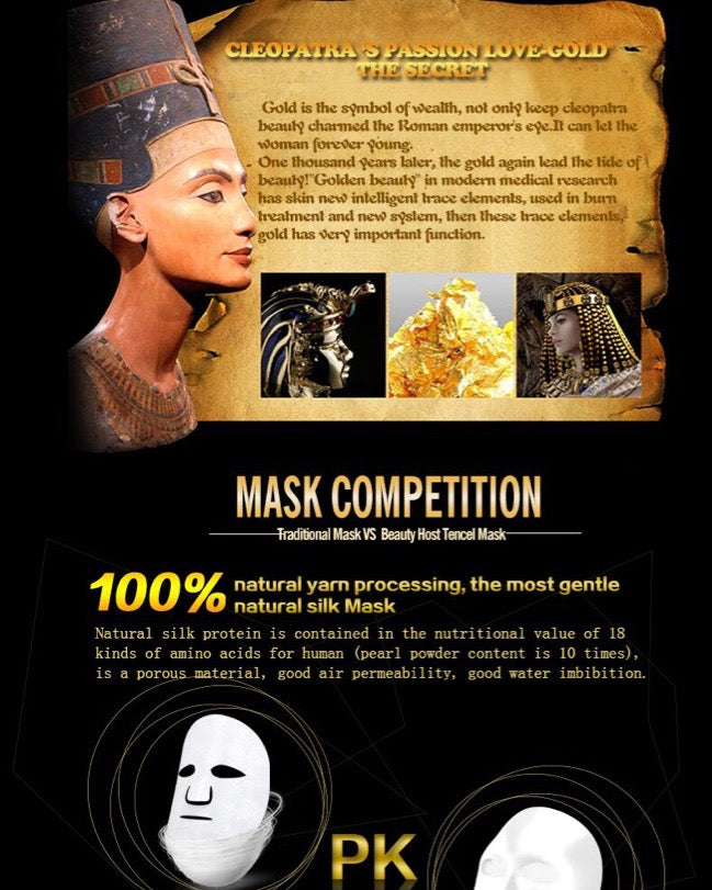 24k Gold Face Mask | Revitalising Radiant Silk with Vitamin E and Seaweed infused