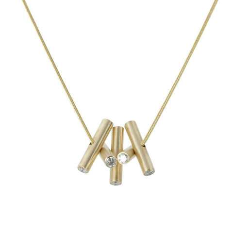 Log Necklace in 14 Karat Yellow Gold