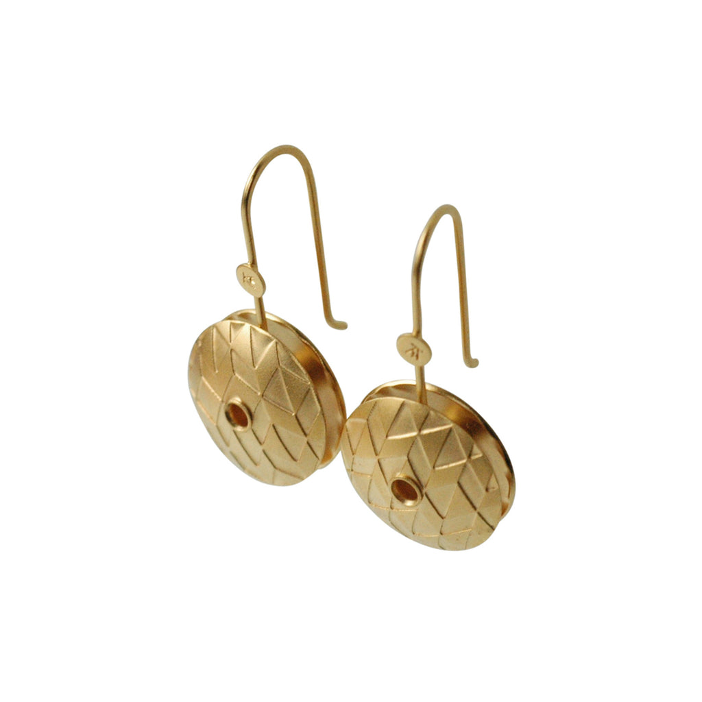 Axis Earrings in 24 Karat Gold Vermeil