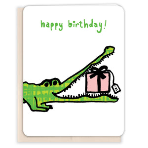 Crocodile-GiftBirthday-Card