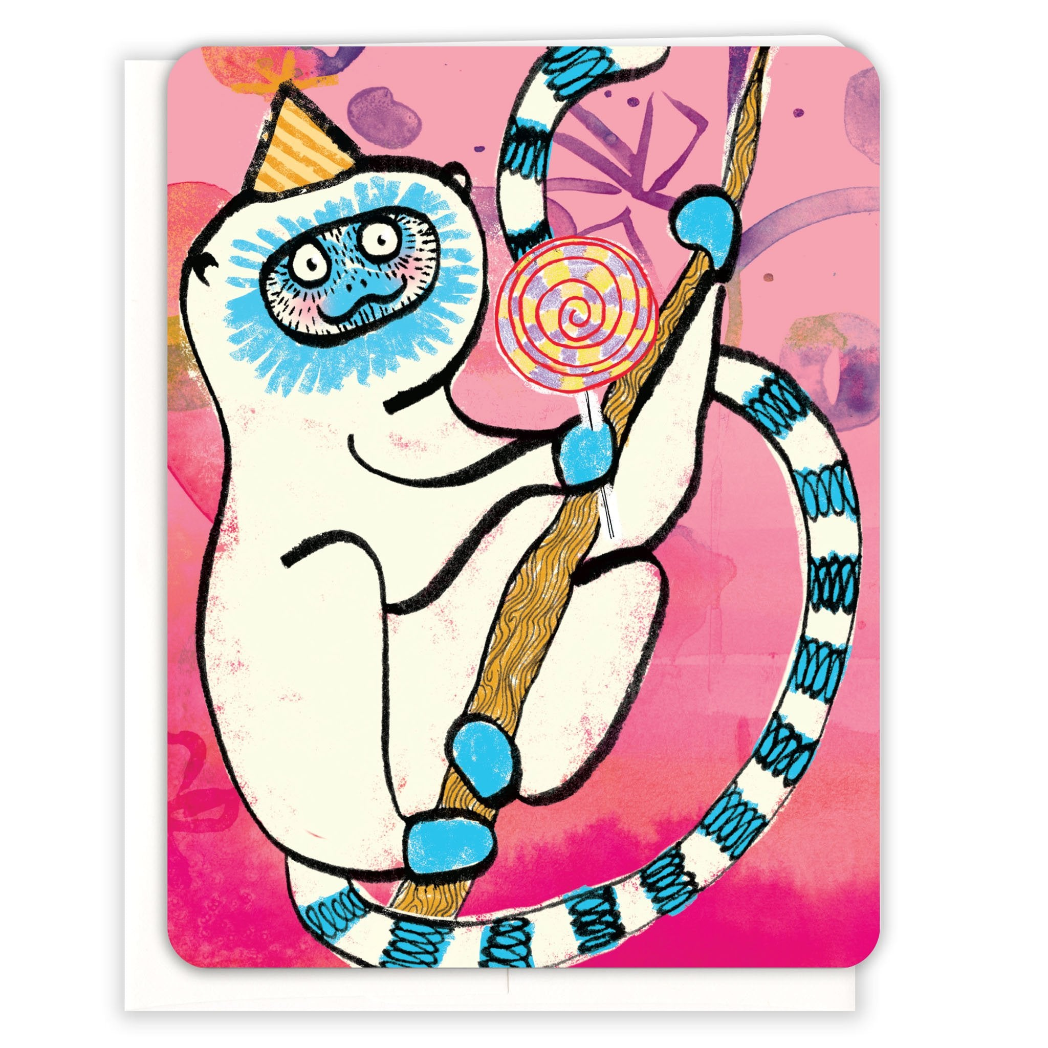Lemur-with-Lollipop-Birthday-Card