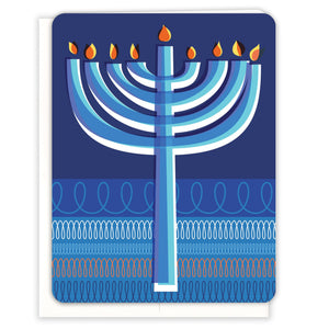 Menorah-Loops-Hanukkah-Card