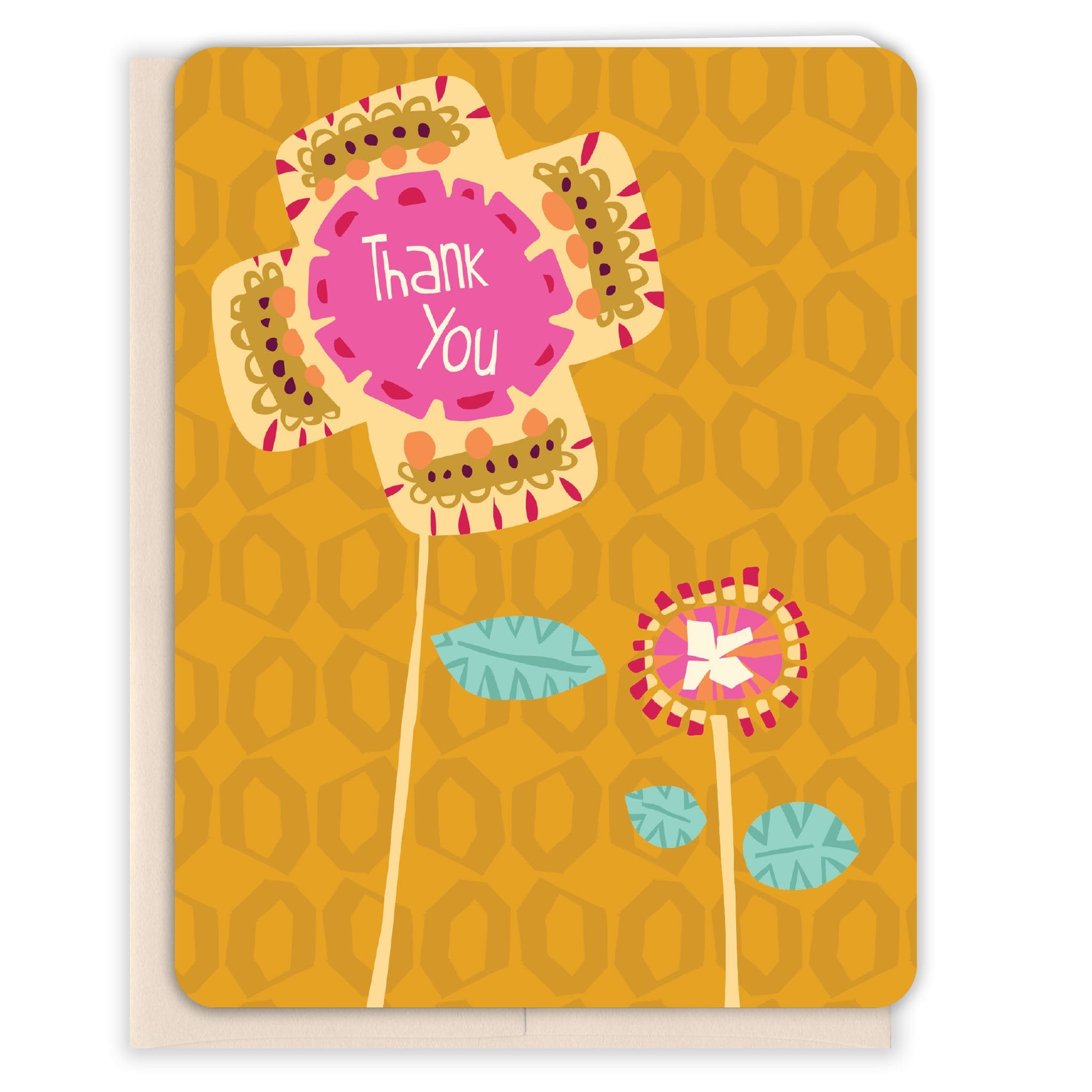 Yellow-Flowers-Thanks-Thank-You-Card