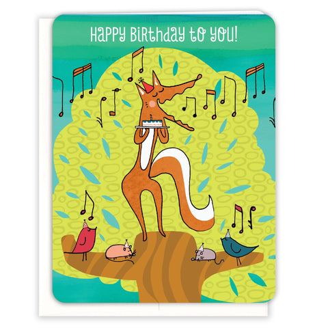 Singing-Birthday-Fox-Birthday-Card