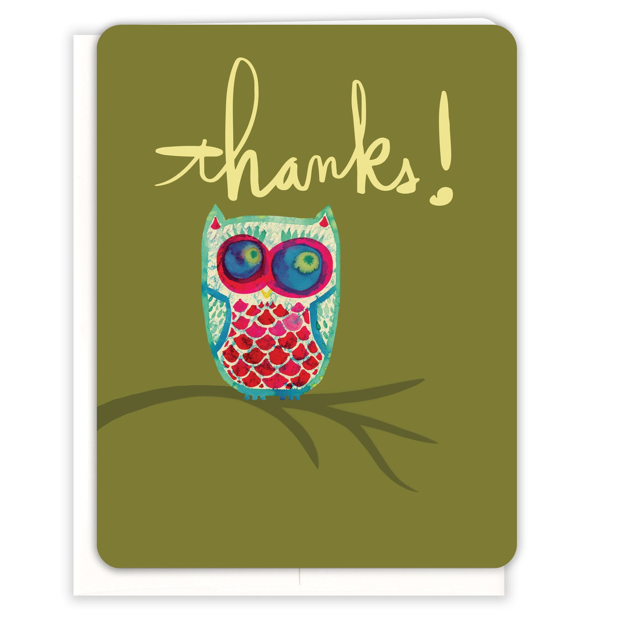 Green-Owl-Thanks-Thank-You-Card