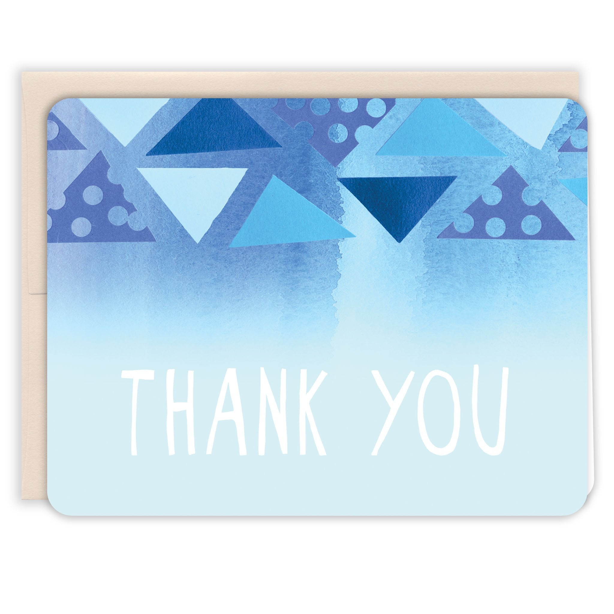 Blue-Triangles-Thanks-Thank-You-Card