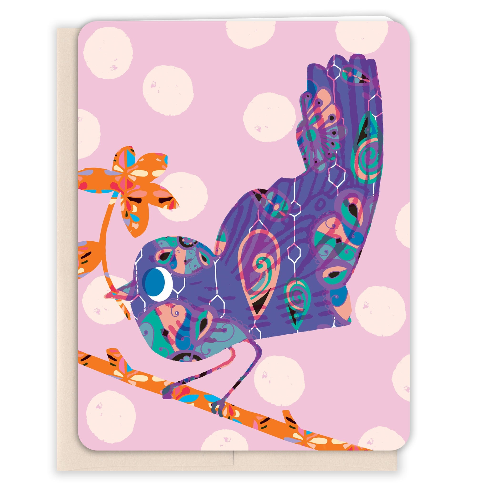 Patterned-Bird-Note-Blank-Card