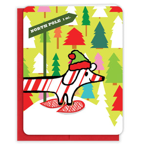 Snowshoe-Dog-Forest-Christmas-Card