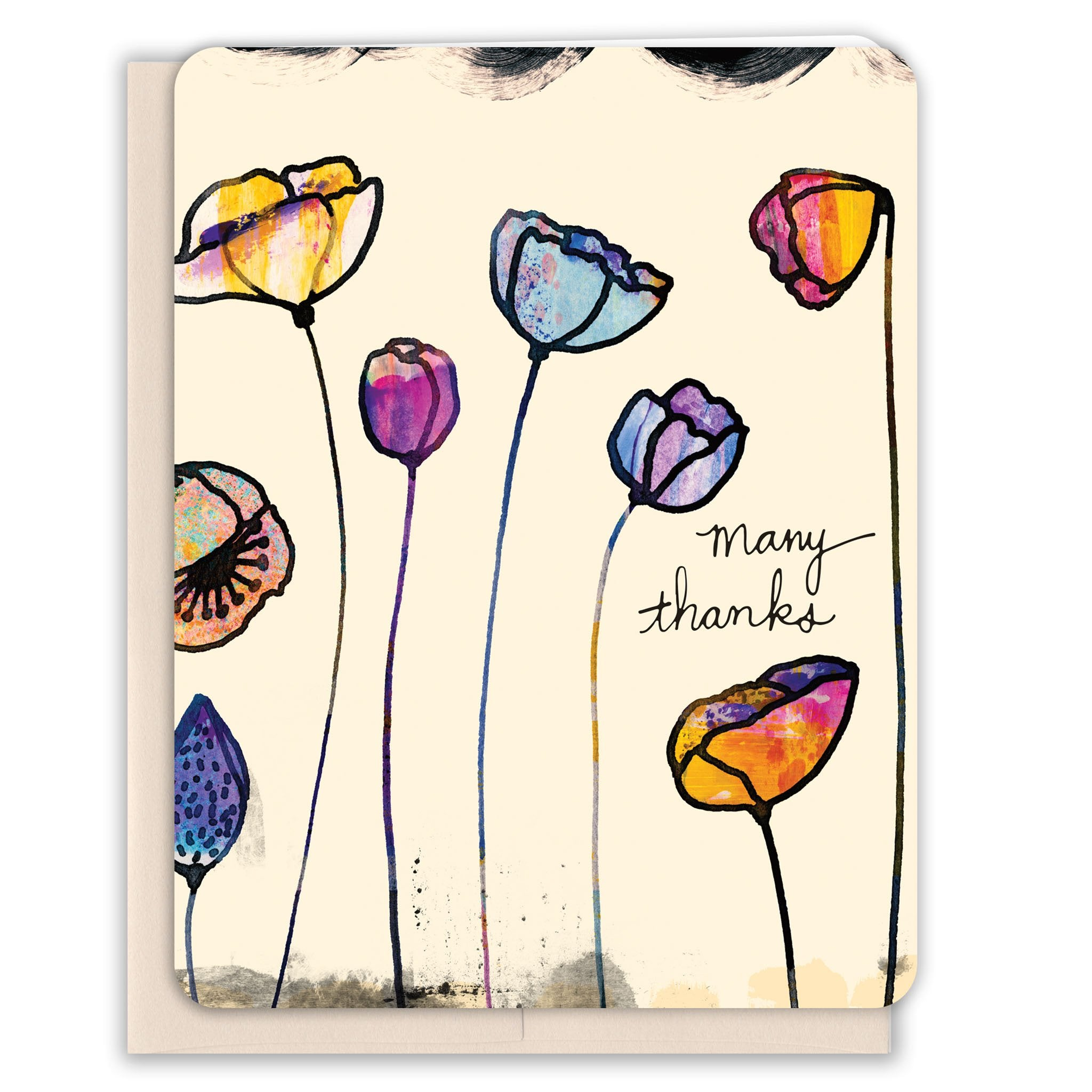 Poppies-Many-Thanks-Thank-You-Card