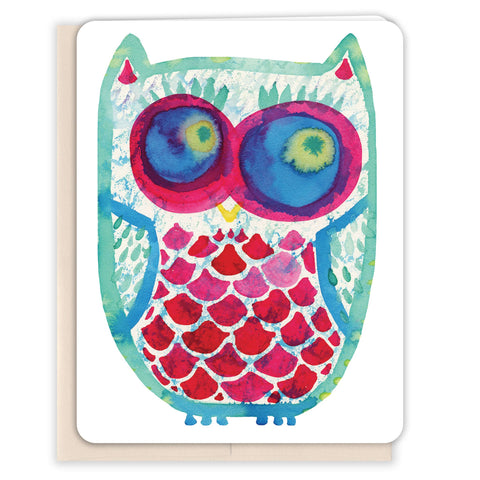 Watercolor-Owl-Blank-Card